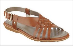Easy Spirit Resto strappy sandals natural tan brown woven sz 9 Med New