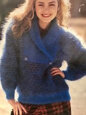 FCl63 - Knitting Pattern - Lady's Mohair Jumper - 7 Sizes