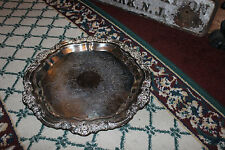 Vintage FB Rogers Silver Co. Victorian Serving Tray Platter-7734-Silver On Coper