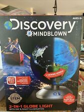 Discovery Mindblown 2-in-1 Globe Light with Day/Night Illumination Ages 8+ Stem