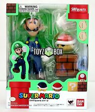 "In STOCK S.H. Figuarts Super Mario Bros. (Brothers) Bandai ""Luigi"" Action Figure"