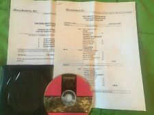 Iggy Pop King Biscuit Flower Hour Radio Show # 96-34 with Cue Sheet and C O P