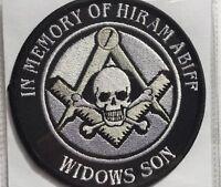 Freemasonry patch In Memory Of Hiram Abiff Widows Son very rare Master masons