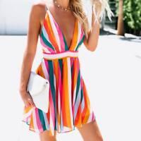 Sexy Sleeveless Holiday Lace Beachwear Ladies Summer Beach Casual Sun Dress HOT