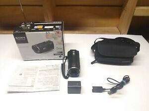 Sony HDR-CX220 Camcorder Handycam Blue Cables Carrying Bag 2 Batteries