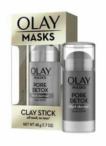 Olay Masks - Clay Stick Mask - Pore Detox - Black Charcoal 48g,NEW UK