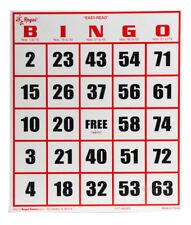 Regal Games 50 Jumbo Easy Read High Contrast Bingo Cards