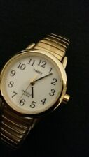 Women Timex Easy Reader (T2H3519J |Gold Tone Flex/White Face)Watch: GOOD W/BATRY