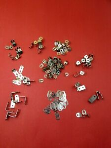Meccano-100 Plus Small Parts as per Ten Set and more. Re-plated in Bright Nickel