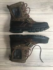 Luxury Ralph Lauren Mens UK11 Leather & Tweed Wool Country Hunting Boots VGC