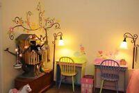 Removable owl swing flower tree wall decal kids nursery stickers decor art