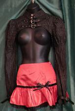 pHAZE Gothic Skirt-RED SATIN, WITH BLACK LACE,ELASTIC WAIST.SIZE8UK