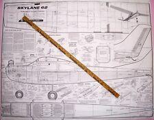 "Carl Goldberg's SKYLANE 62 RC PLANS for Scratch-Building His 62"" Model Airplane"