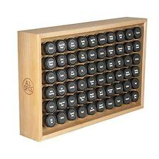 Wooden Spice Rack Storage 60 Condiments Herbs Jars Organizer Kitchen Maple NEW