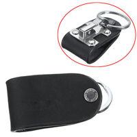 Men's Belt Clip Keyring Holder Detachable Stainless Leather Keychain In US SHIP