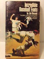 Incredible Baseball Feats Book 1975 by Jim Benagh - Paperback