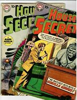 🐱👤 House of Secrets Early Issue # 16 & # 38 DC Early Silver-Age 10c see disc.