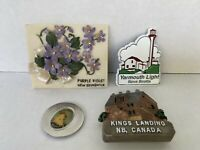 Nova Scotia  Canada New Brunswick Souvenirs Refrigerato Magnets set of 4