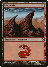 4x Mountain - LP FOIL - Premium Deck Series: Slivers Magic Card Mtg