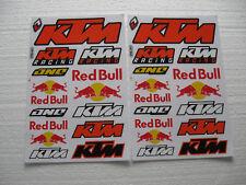 2x Aufkleber Bogen Sticker KTM Motorradsport Tuning Motorradcross Racing Biker