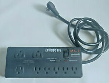 MGE Eclipse Pro - Rotating Flat Plug Surge Suppressor / Noise Filter - 8 Outlets
