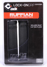 ODI RUFFIAN LOCK-ON MOUNTAIN BIKE REPLACEMENT GRIPS IN BLACK