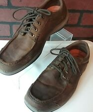 Mens Skechers Relaxed Fit Memory Foam Brown Oxfords Size 11 M Lace Up Shoes