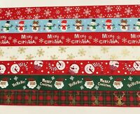 Assorted Christmas Grosgrain Ribbon 25mm You Choose 1-5-10m Aussie Seller
