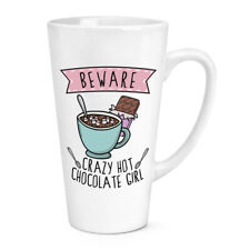 Beware Loco Chocolate Caliente Niña 483ml Grande Latte Taza Broma Graciosa Niños