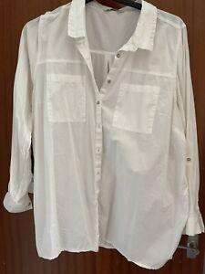 White Casual Beach? Shirt George Asda Size 22