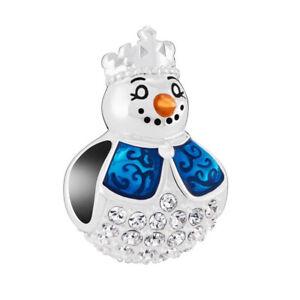 Genuine CHAMILIA Christmas Snow Maiden Snowman Charm ~ NEW ~ 2025-2383