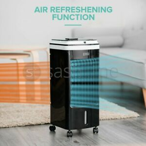 Portable Air Cooler Humidifier Cool Fan Swing 60W 3 Speed 2 Ice Pack 4L Remote