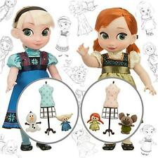 "Anna and Elsa 16"" Dolls Deluxe Gift Set NIB Disney Animators' Collection"