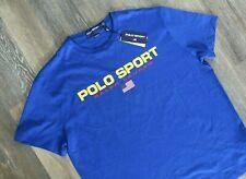 NWT Polo Ralph Lauren Polo Sport Men's USA Performance T-Shirt Royal Blue S