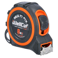 Wellcut Magnetic Tape Measure 8M/26ft 25mm Wide MultiFix System