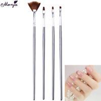 4pcs nail art gel design penna pittura polacco pennello punteggiano set TWCRIT