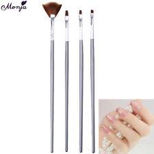 4pcs nail art gel design pen painting polish brush dotting drawing tool set BBWI