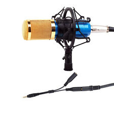 Recording Kit Blue Condenser Microphone Mic +Shock Mount For iPhone Macbook Pro