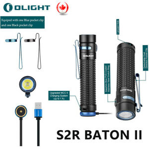 Olight S2R Baton II 1150 Lumens 3200mAh LED Side-Switch EDC Flashlight Key-Chain