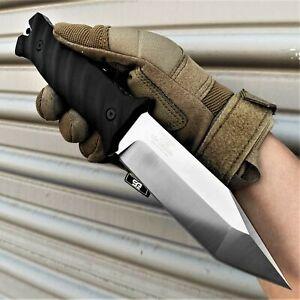"9.75"" Full Tang Knife D2 Steel Tanto Blade G10 Molle Kydex Sheath Survival Knife"