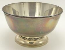 "La Paglia Sterling Silver 10"" Round Bowl Pierced Footed 139 35 -1"