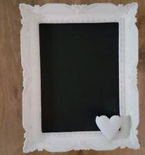 Kreidetafel Memo gekalkt Calkboard Tafel Lovely  Shabby Chic Landhaus old white