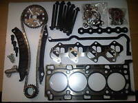 VAUXHALL VIVARO 2.0 CDTi M9R DIESEL TIMING CHAIN KIT + HEAD GASKET SET & BOLTS