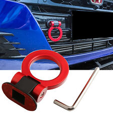 Universal ABS Red Ring Track Racing Style Tow Hook Decoration For Accessories