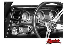 1970 Olds Cutlass 442 Chrome Dash Bead Molding with Clips 1971 1972 Oldsmobile