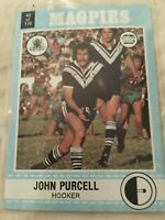 1977 SCANLENS NSW Rugby League Trading Card (No82) John Purcell Western Magpies.