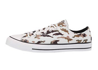 Converse Men's Allover Camo CTAS OX Sneakers, Vintage White/ Black/ White