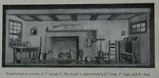 Colonial Doll House Furniture 1940 How-To build PLANS Diorama