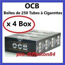 1000  TUBES à CIGARETTES - OCB (4 Boîtes de 250)  Avec Filtre en mousse acétate
