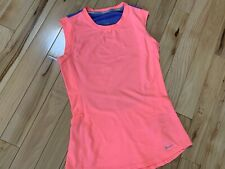 NIKE RUNNING Dri Fit Sleeveless Pullover Top Sz Med Women Coral & Purple Color